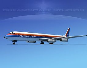 3D Douglas DC-8-63 Quebec Air