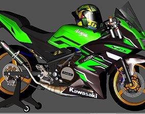 Indonesia Kawasaki Ninja 150 KIPS 3D asset