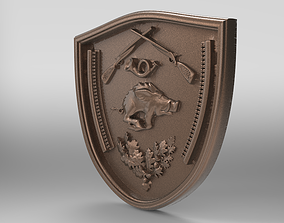 3D print model coat of arms of hunters