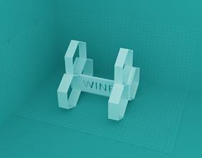 3D printable model winerack - 3bottles - honey