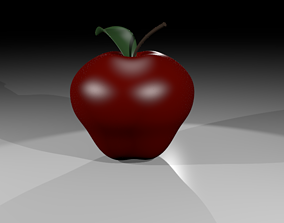 APPLE WITH MATERIALS 3D asset
