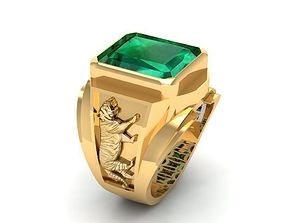 774 Tiger Men Ring 3D printable model china