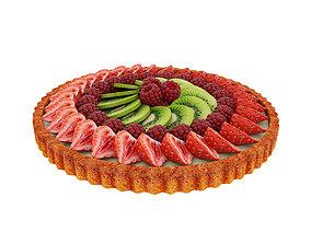 3D model Fruit berry tart