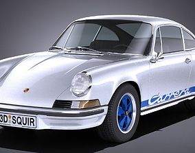 3D model LowPoly Porsche 911 Carrera RS 1973