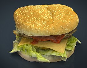 3D asset Hamburger