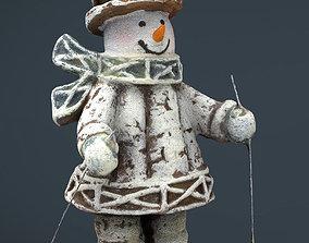 Snowman Skiing 3D model