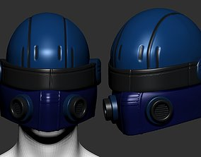 helmet high poly sculpt 3d printable safe
