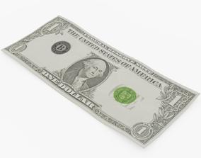 One Dollar Bill 3D asset