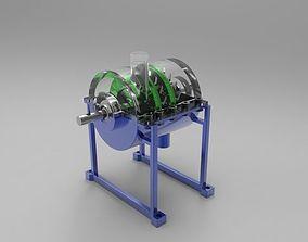 Mini Steam Turbine Engine 150 watts 3D