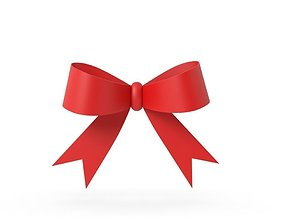 3D present Gift ribbon red simple cartoon