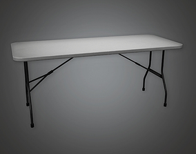 Folding Table 01 HLW - PBR Game Ready 3D asset