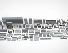 Sci-Fi architecture Elements collection 21 3D