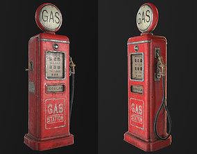 3D model Vintage gas pump