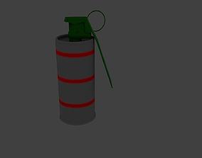 3D asset Flash Grenade Low Poly