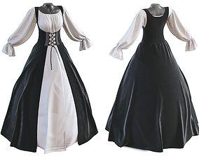 3D Classic womens dress