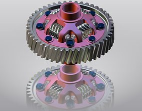 Worm and screw differential 3D