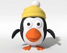 Cartoon Penguin for animation 3D model