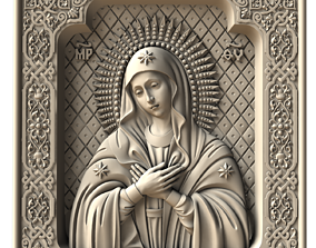 3D printable model icon of the mother of god tenderness