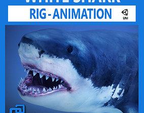 3D asset Great White Shark v2 Unity