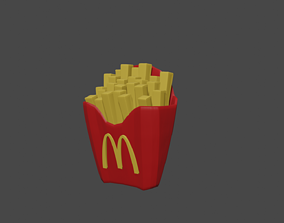 3D asset animated French Fries