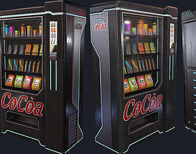 Cyberpunk Vending and ATM 3D asset low-poly