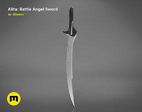 3D printable model Alita Damascus Blade Sword