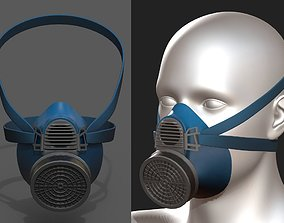 Gas mask protection futuristic technology 3D model 1