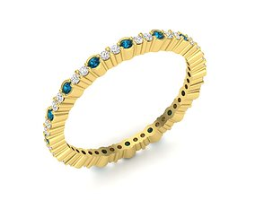 3D printable model Diamond ring for woman silver brilliant