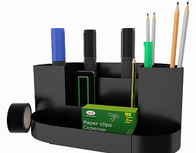 3D model Office Set crayon