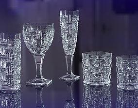 modern glassware set 3D print model