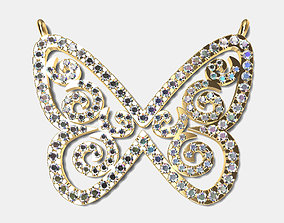 Butterfly Pendant pendants 3D print model