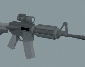 LowPoly M4A1 ACOG scope 3D asset