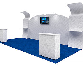 Exhibition booth 10x20ft 3DM011 tension