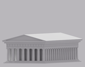 Greek The Parthenon 3D asset