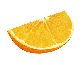 3D Orange slice fruit