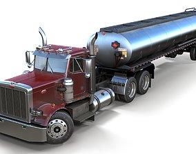 Peterbilt 359 fuel trailer 3D model