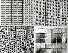 Stone many hole panel n1 3D model