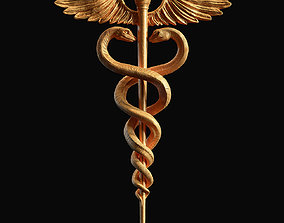 Caduceus Medical symbol 3d print model caduceus