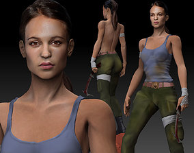 Tomb Raider 2018 3D Model Lara Croft Alicia Vikander