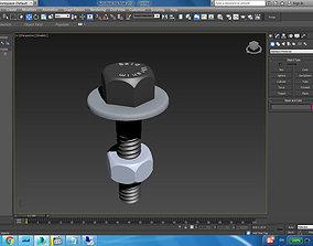 industrial Bolt nut 3D model