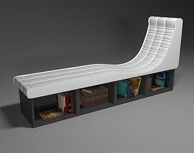 Armchair - windowsill 3D model
