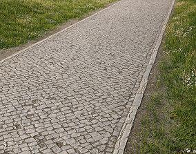 Green Belt Path 01 3d Scan including Grass VR / AR ready 1