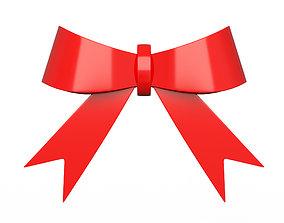 3D asset Gift ribbon red simple cartoon