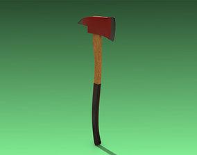 Fire Axe 3D model game-ready PBR