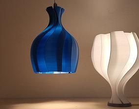 3D printable model The Unfolding Flower Lamp
