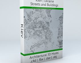 3D Kiev Streets and Buildings