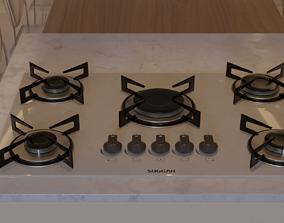 kitchen Cooktop Suggar 5 Burners FG5005VP 3D