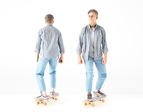 3D model Young man on a skate 19