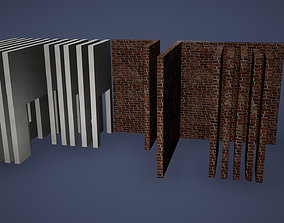 Wall Low Oly Game Ready 3D asset