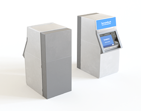 3D model ATM - automated teller machine